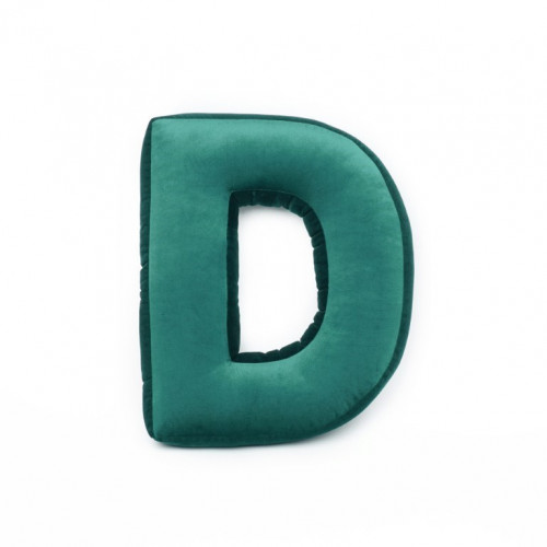 Buchstabenkissen Samt Grün | D