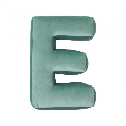 Buchstabenkissen Velvet Mint | E