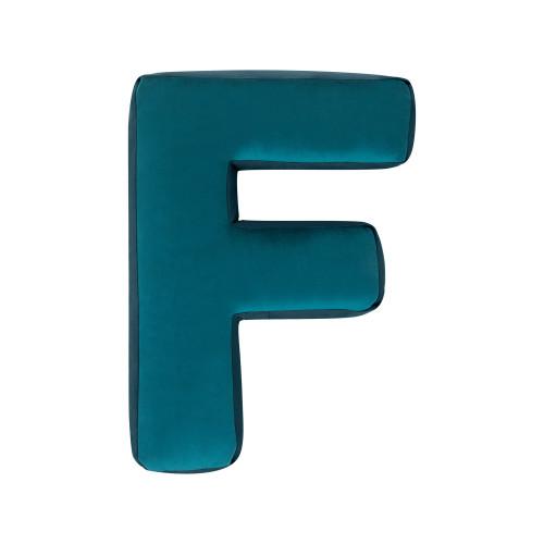 Buchstabenkissen Samt Smaragd | F