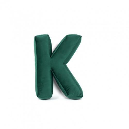 Buchstabenkissen Samt Grün | K