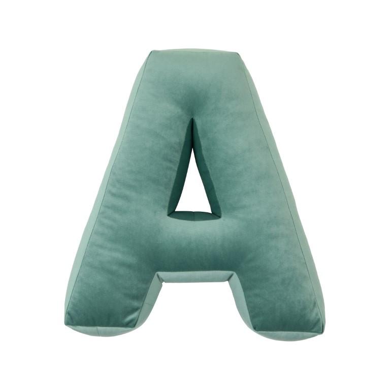 Cushion Letter Velvet Mint | A