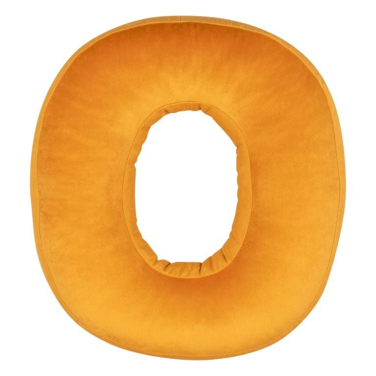Kissen Samt Nummer Gelb  | 0