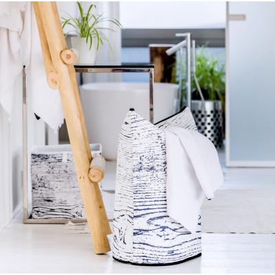 Storage Bag Wooden Texture   White & Black