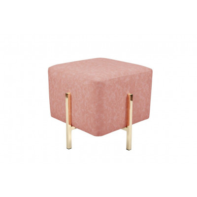 Pouf Liani | Pink/Gold