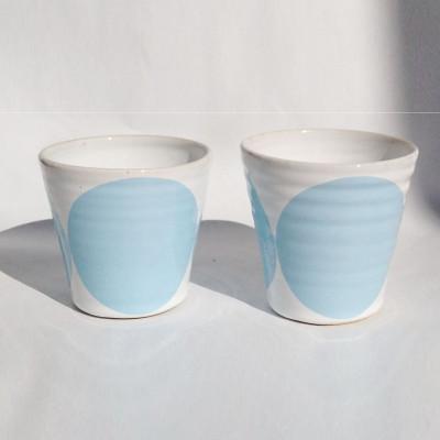 TINA Mug Set of 2   Light Blue