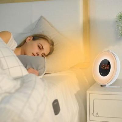 Wecker-LED Sonnenaufgangssimulator | Weiß