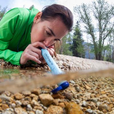 Strohfilter für Sport im Freien, Überleben und Notfälle LifeStraw   Blau