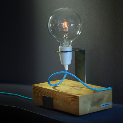 Lift Me Up Lamp | White + Blue Cable