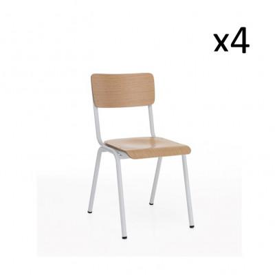 4er-Set Stuhl Old School | Hellesholz