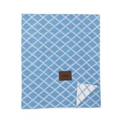 Merinowool Blanket | Light Blue - White