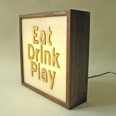 Kleiner Leuchtkasten | Essen-Trinken-Spielen