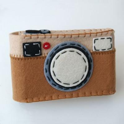 Camera Case Holder Light Brown