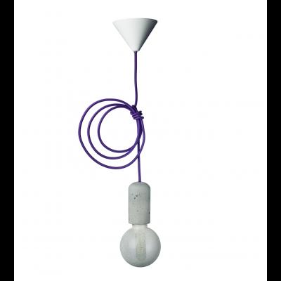 Concrete Pendant Lamp | Purple