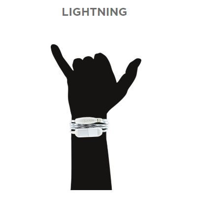 Wristband Charge Cable Lightning   Snow