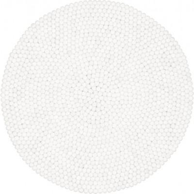 Felt Ball Rug Linéa | White