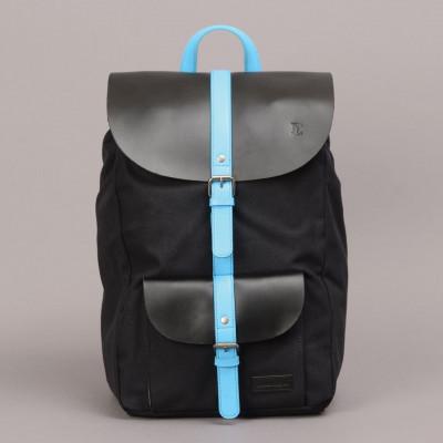 Lincoln Backpack   Black & Blue
