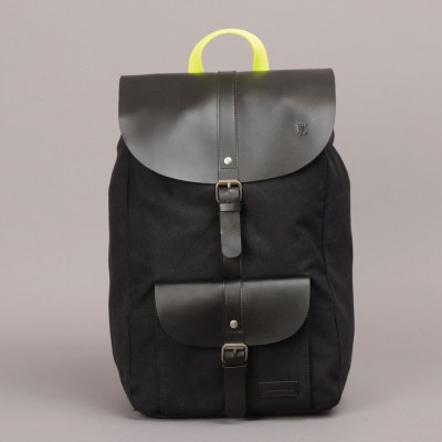 Lincoln Backpack   Black & Yellow