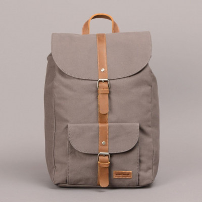 Lincoln Backpack   Grey & Brown