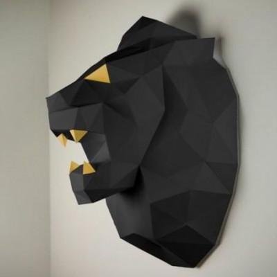 Wandtrophäe Löwe