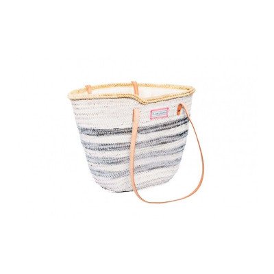 Lines Basket Little Medium   White & Silver