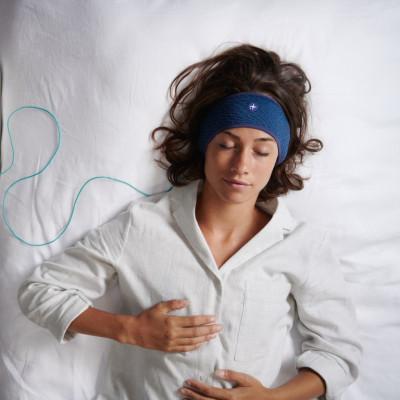 Stirnband zum Einschlafen | M/L | Blau