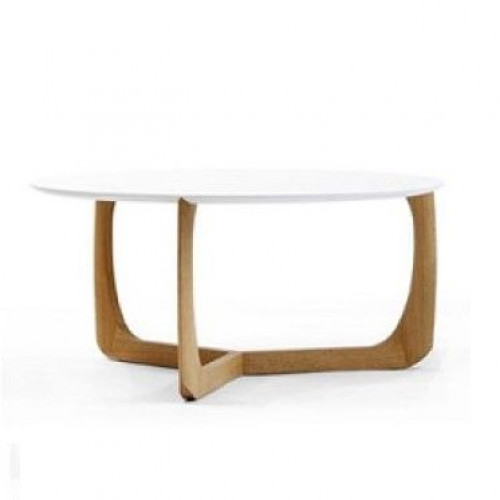 Lili Lounge Table | Oak/White