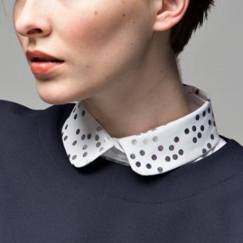Collar 7 | White Round Dots