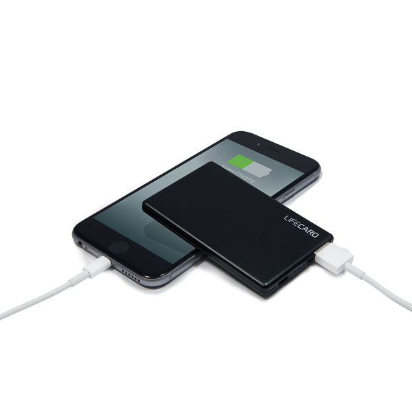 LifeCard | Compact portable battery charger and card holder in one