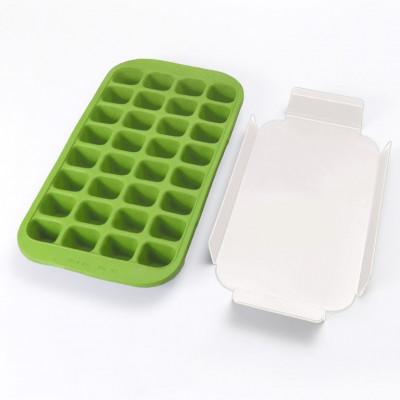 Eiswürfelform für 32 Eiswürfel + Tablett   Grün