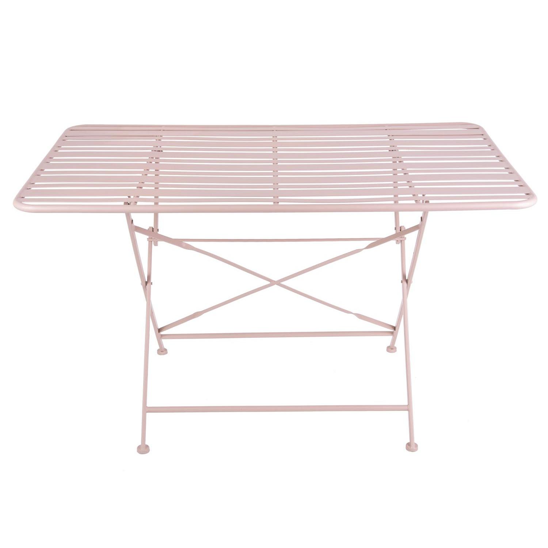 Outdoor Esstisch Lines | Verblasstes Pink