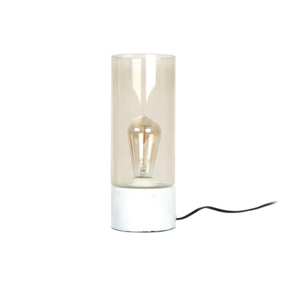 Table Lamp Lax | Marble Base - Brown Glass