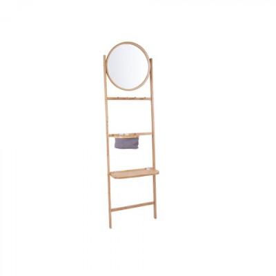 Wandregal mit rundem Spiegel