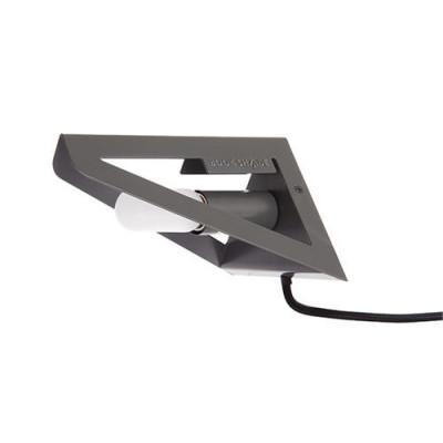 Wandlampen-Buchschirm   Grau