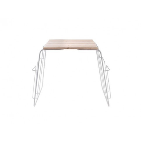 Wired Side Table with Magazine Rack | White