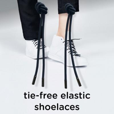 Last Knot Elastic Shoelaces   Black