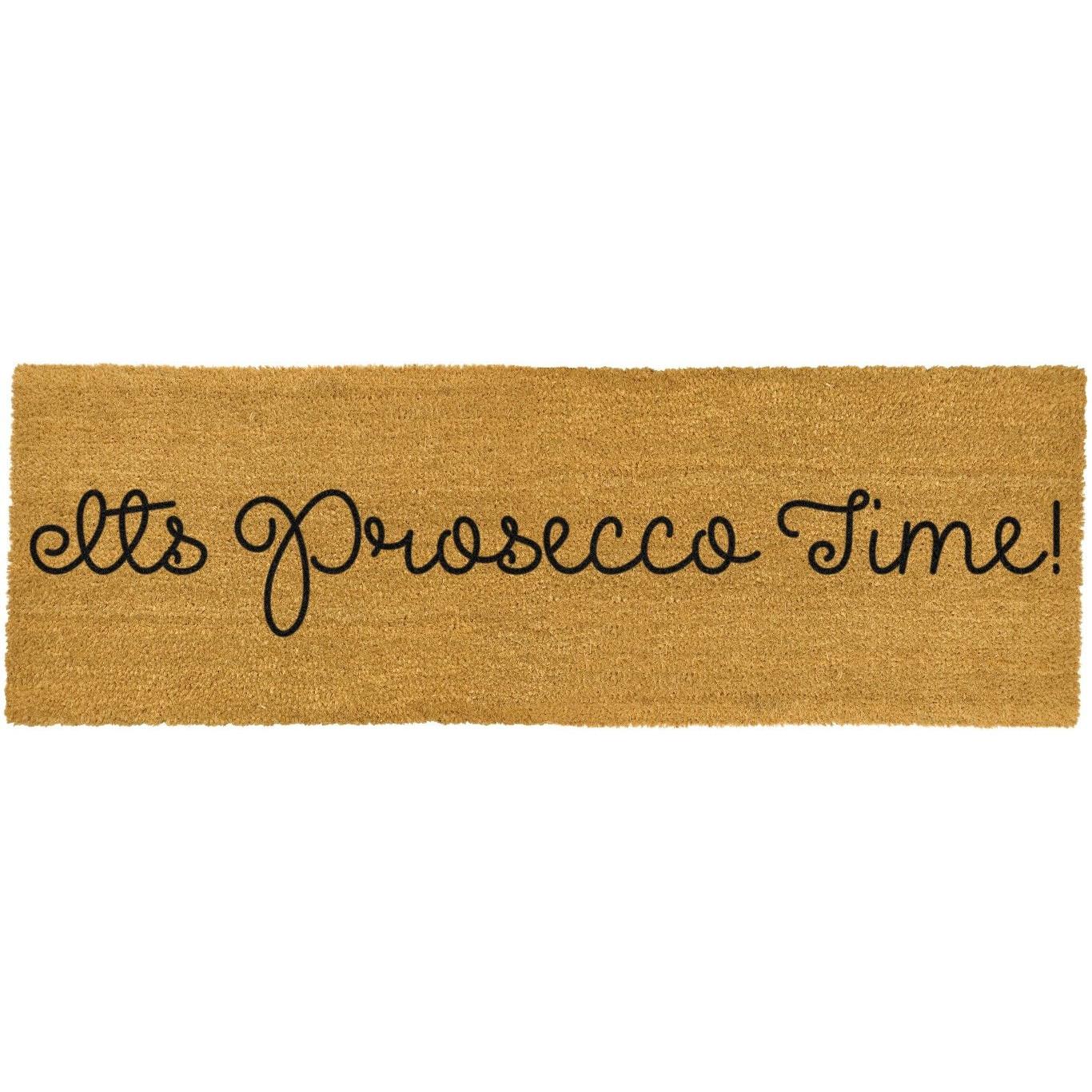 Lange Fußmatte auf der Terrasse | Es ist Prosecco-Zeit