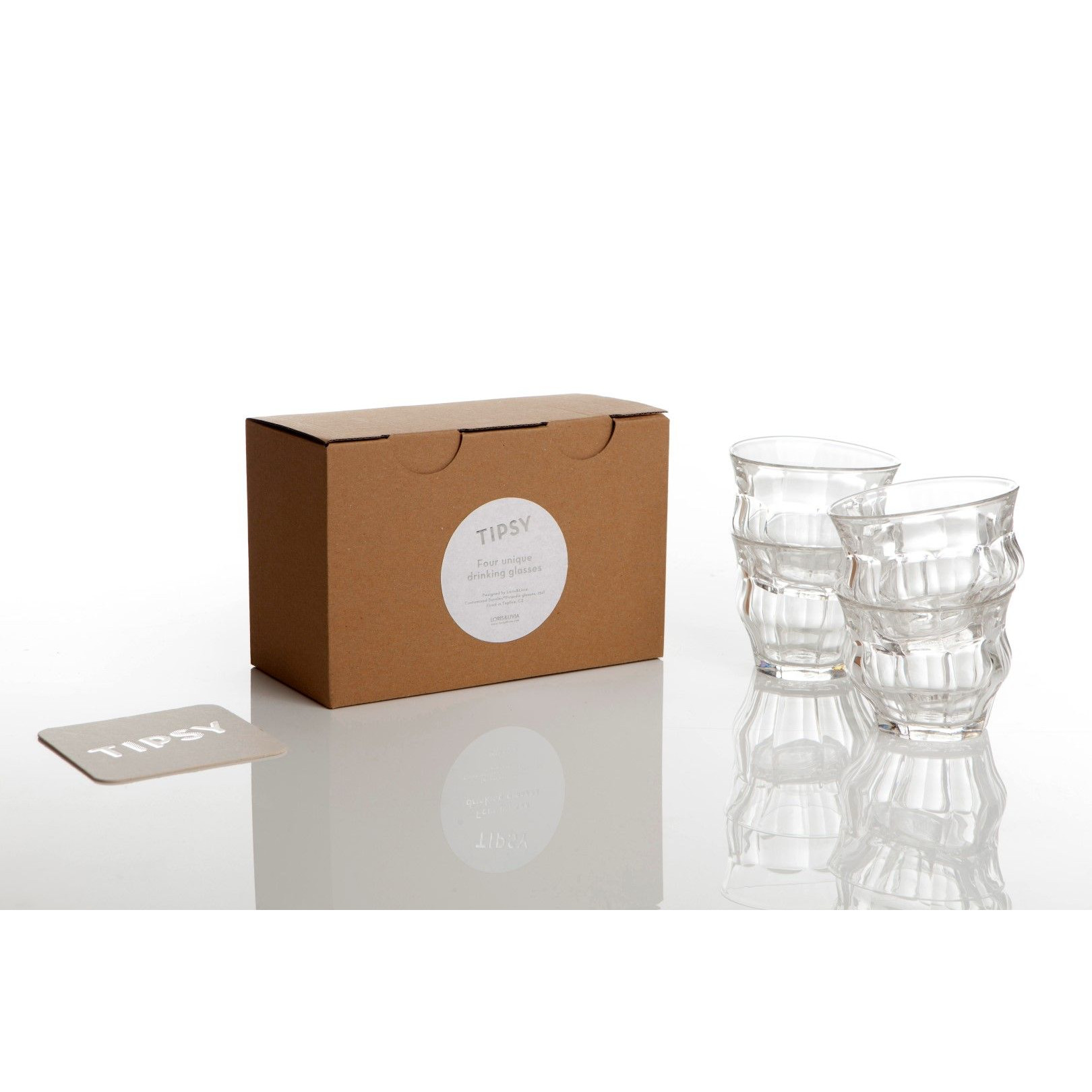 Tipsy Mini 9 cl - Schachtel mit 4 Gläsern   Klar