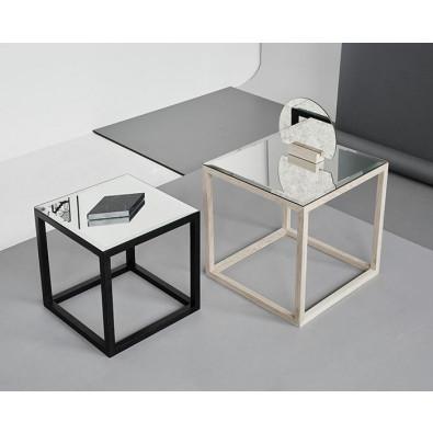Cube Mirror Table   Black