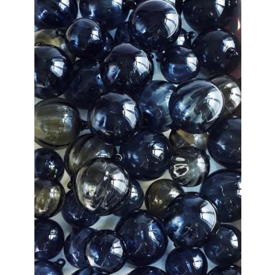 Glass Chistmas Ball Grey   Large