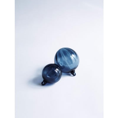 Glass Chistmas Ball Grey | Small