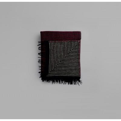Lofoten Blanket | Burgundy-Mint