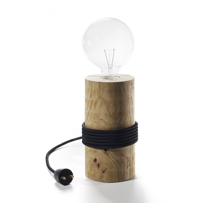 Log Lamp | Black