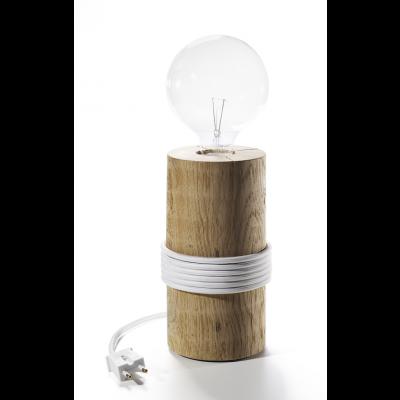 Log Lamp | White