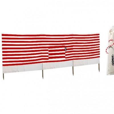 Strand Windschutz | Rot und Weiß