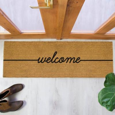 Lange Fußmatte im Innenhof | Willkommen