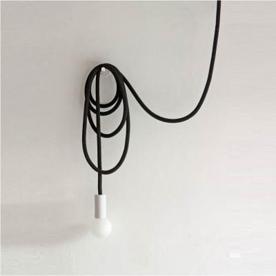 Loop Line Lampe | Schwarz/Weiß