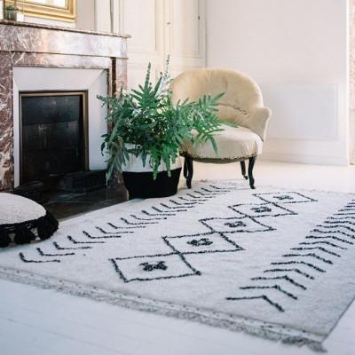 Waschbarer Teppich  | Bereber Rhombs | 170 x 120 cm