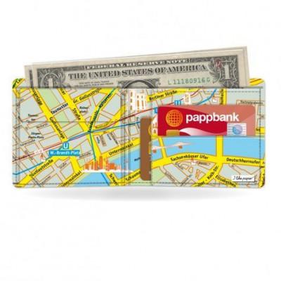 Klassische Brieftasche   Stadtplan