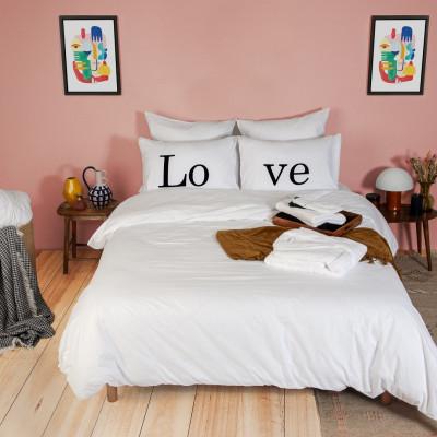 2er-Set Kissenbezüge & Bettbezug   Love