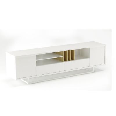 TV-Ständer Lowbo L | Weiß Flach